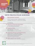 Data protection seminar flyer